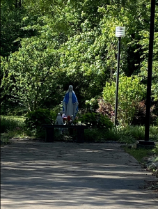 Mary Garden at St. Marguerite d'Youville Catholic Church, Lawrenceville, GA - May 2020